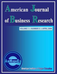 Cover of American Journal of Business Research